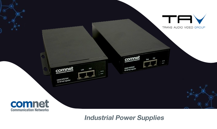 ComNet presenta il nuovo iniettore midspan industriale Power over Ethernet