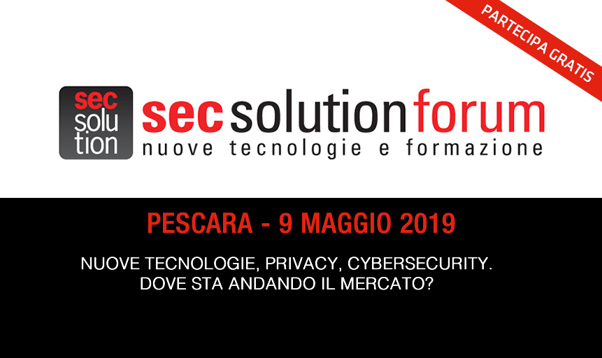 Partecipa a Sec Solution Forum 2019