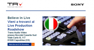 Sony Live Production Roadshow_Caserta 16 Dicembre 2014
