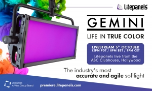 Litepanels Gemini guarda il livestream
