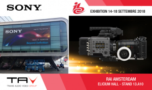 Sony pronta per stupire all'IBC 2018