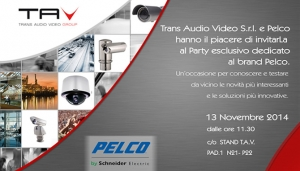 Sicurezza 2014: Party esclusivo Trans Audio Video e Pelco