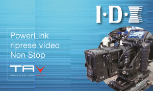IDX PowerLink: riprese video Non Stop